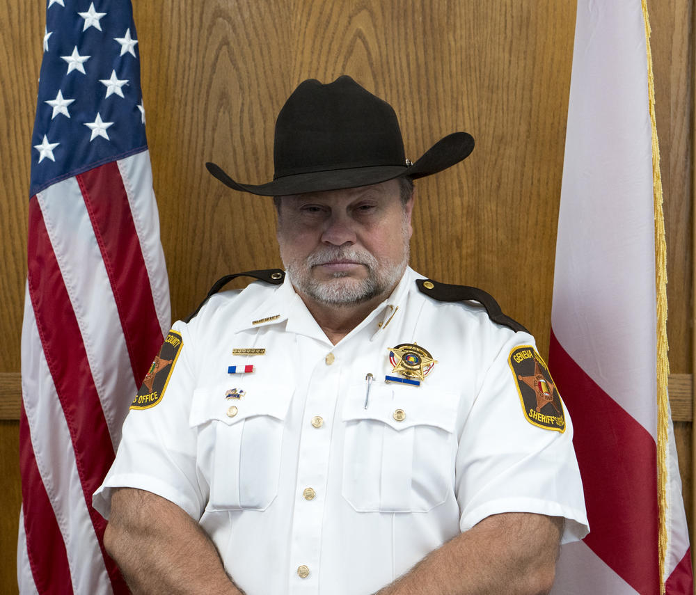 Sheriff Tony Helms Portrait with American Flag